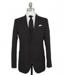Wool Fresco Bead Stripe Suit
