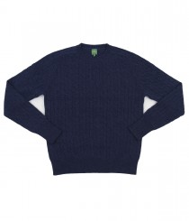 Cashmere Cable Crew Neck Sweater