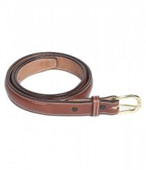 1&quot; Bomb Stitch Bridle Leather Belt