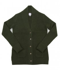 Heavy Gauge Cashmere Long Shawl Cardigan